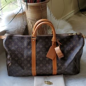 Authentic Louis Vuitton Keepall 50 Carry On Bag